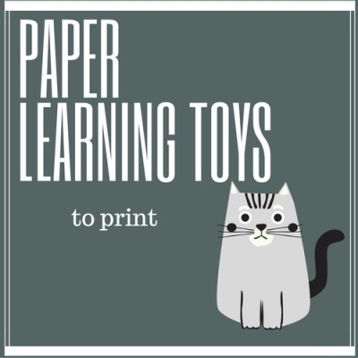 Free DIY Paper Learning Toys: print them out, fold them, play and learn with them!