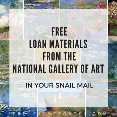 How to get free loan materials from the National Gallery of Art – into your snail mail!