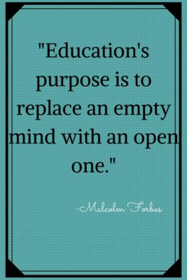 Quote: Education's Purpose…