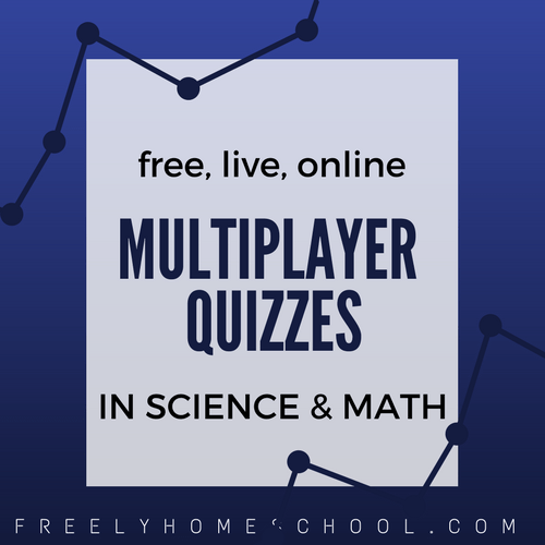 Multiplayer Math and Science Quizzes (free, live, online)