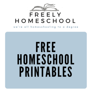 Free Homeschool Printables Page
