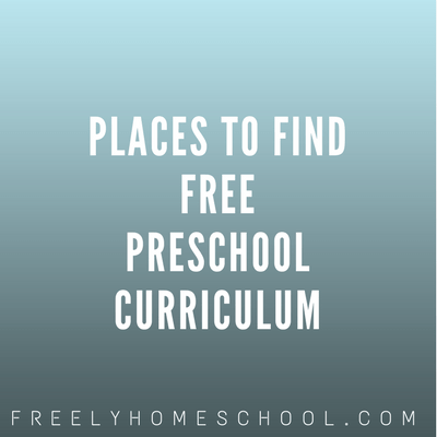 Two Free Preschool & Kindergarten Curriculum Choices!