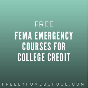 free FEMA emergency courses for college