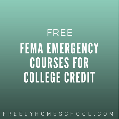 Free FEMA Emergency Courses for College Credit