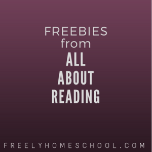 freebies from All About Reading