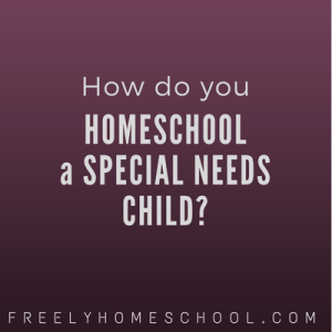 how to homeschool a special needs child