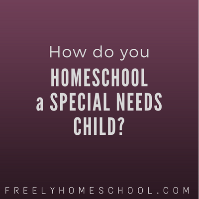 How Do You Homeschool a Special Needs Child?