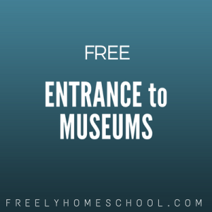 free entrance to museums