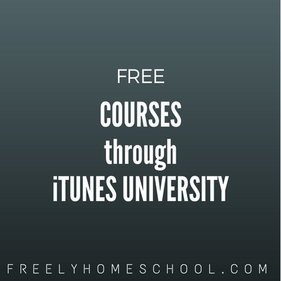 iTunes University:  Free Courses on Your Computer, iPhone, iPod Touch, & iPad