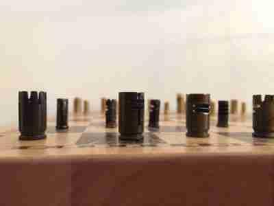 Chess Set from Bullet Casings