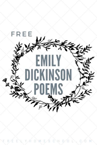 Free Emily Dickinson Poetry