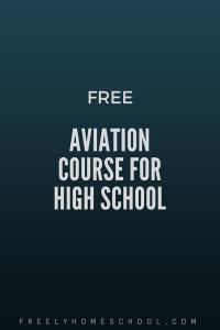 free high school aviation course