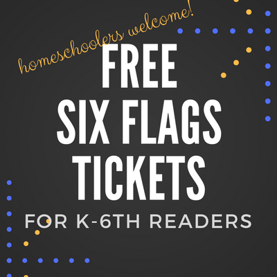 Homeschoolers Get Free Tickets to Six Flags for Reading!