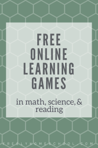 free online learning games in math science reading