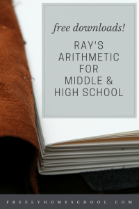 Free Downloads: Ray's Arithmetic for Middle & High School