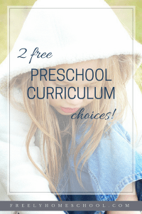Two Free Preschool Curriculum Choices!