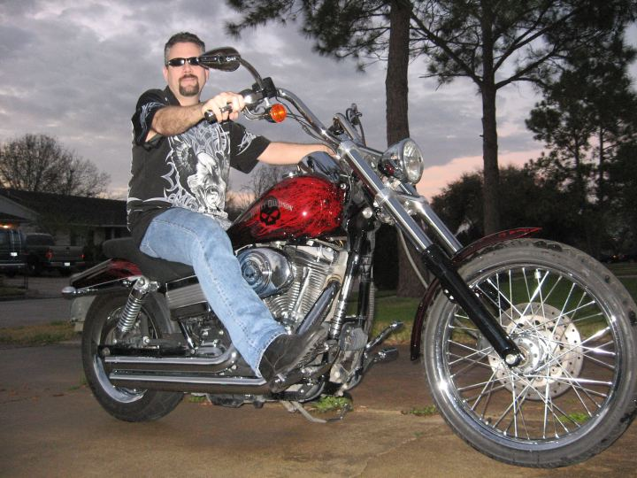 image of Bill on his Harley