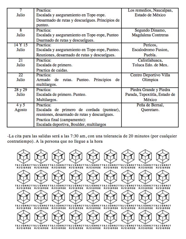 Curso calendario 2