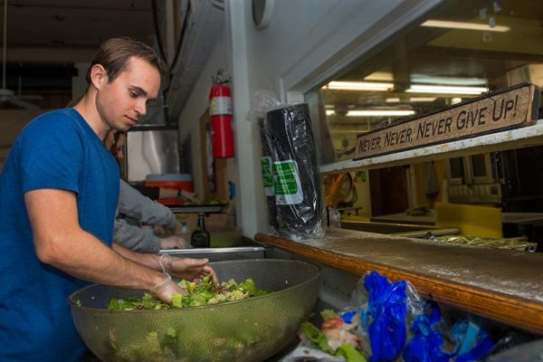 Students find use for excess dining hall food