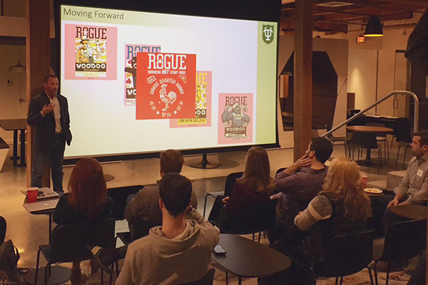 Assistant Professor of Management Cameron Verhaal discussed how craft businesses maintain their identity in the face of growth in a special talk hosted by the Lepage Center in February.