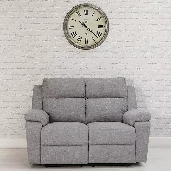 jackson grey fabric recliner sofa range