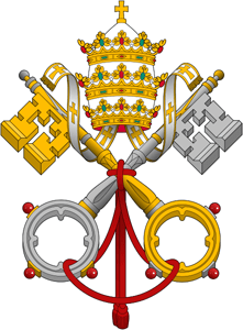 pope, papal logo, catholic church