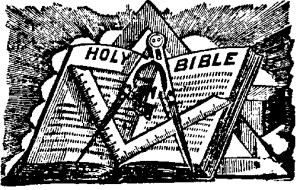 holy bible square and compass
