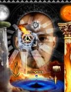 Modern Masonic second degree tracing board art
