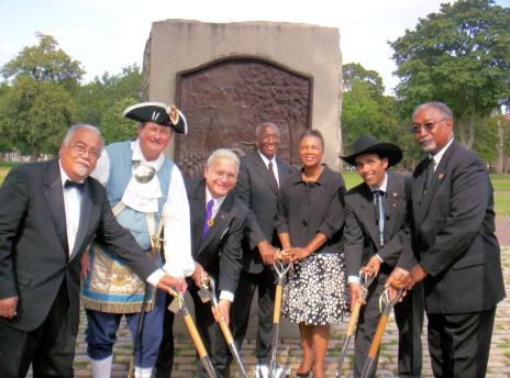 Prince Hall Monument Site Dedication