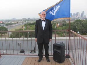 Fred at the Grand Master's Rooftop Table Lodge