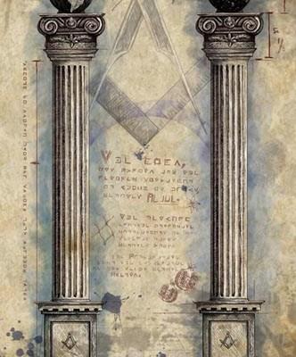 masonic art, pillars, original work