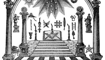 masonic eye, emblems of freemasonry,arch,coffin,square and compass