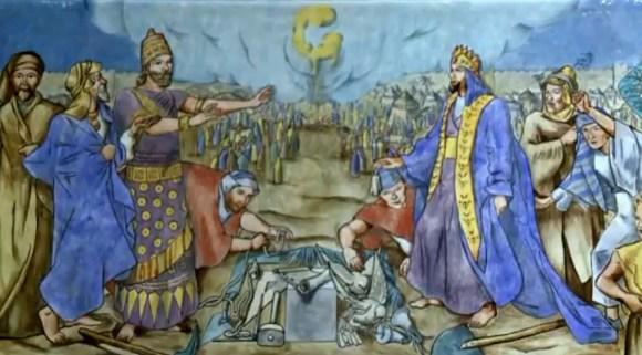 The Origins of Freemasonry Jessie Housley Holliman mural detail
