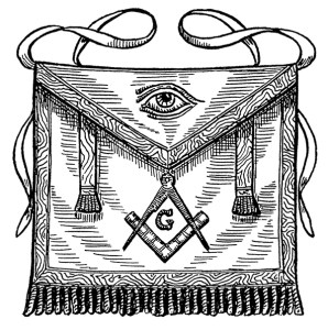 apron, all seeing eye, decorative apron