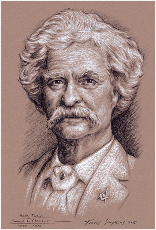 Mark Twain, Author and Freemason. Mark Twain House & Museum. Hartford, CT, by Travis Simpkins