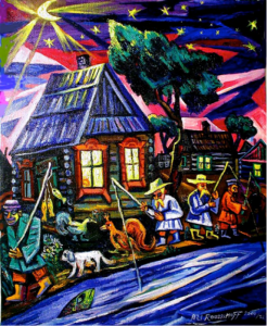 art, Ari Roussimoff, old country, shack, fishing