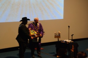 Grand Master Presented A Flag