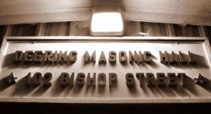 Deering Lodge, Freemasonry, masonic play