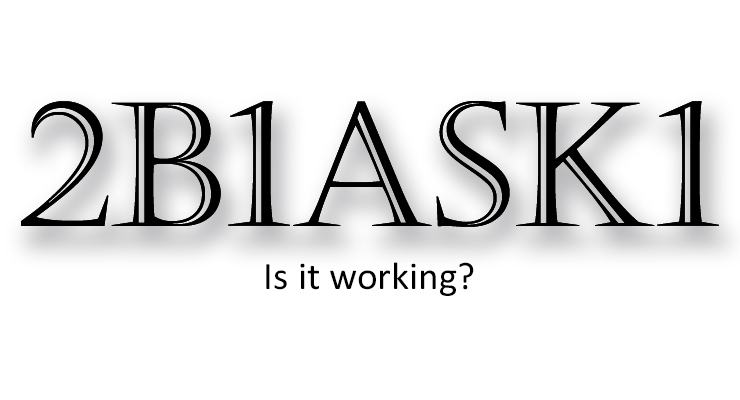 Is 2b1ask1 Working?