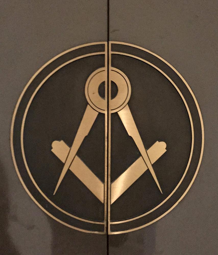 emblem, bronze, Scottish Rite, Los Angeles