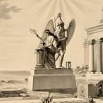 statue, virgin, time, broken column, freemasonry