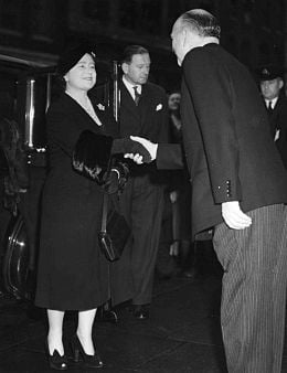 The Queen Mother on her visit to Freemasons Hall in October 1952, shortly after the Kings death