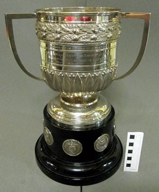 Loving cup with wooden stand presented by the Freemasons of the District of Madras - Sheffield Freemasonry