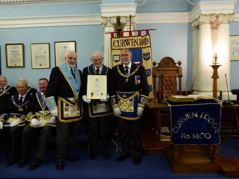 W Bro Bill Allan celebrates 70 years in Freemasonry