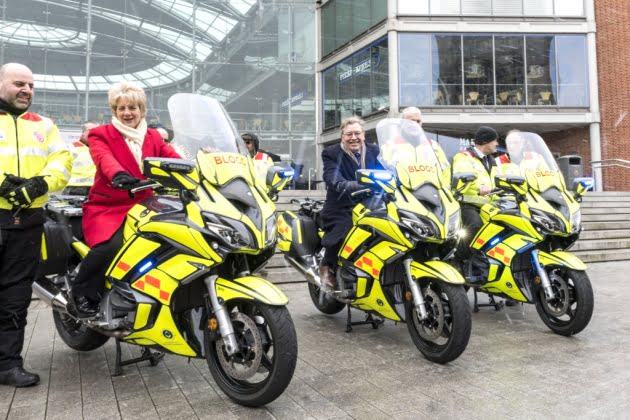 Norfolk Freemasons donate Three new Bikes to SERV Norfolk Blood bikes