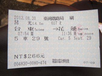 【人間用切符】266元