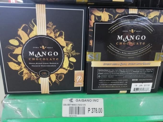 フィリピン土産、マンゴーチョコ