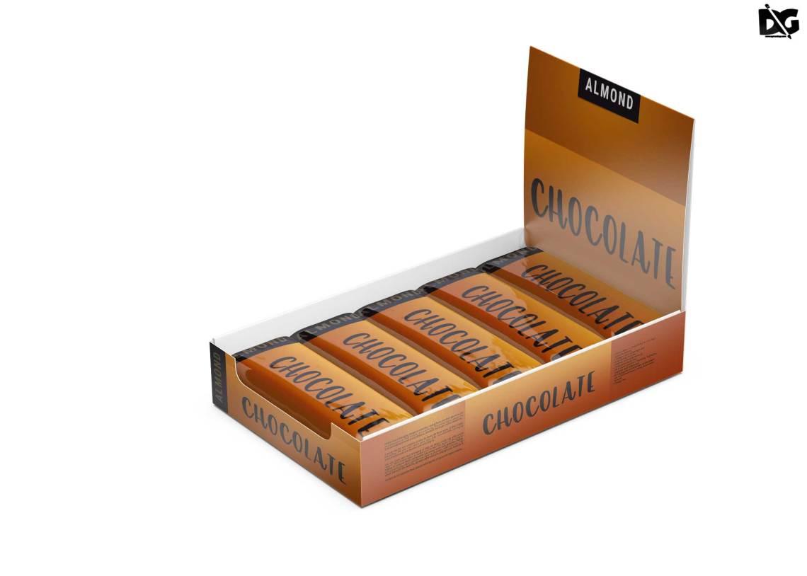 Download Free Chocolate Bars Box Mockup - FreeMockup.net