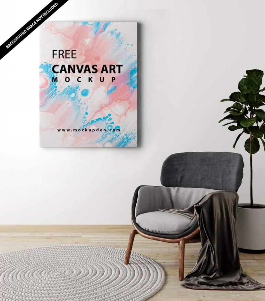 I mean really, can somone give me a link? Free Canvas Art Mockup Psd Freemockup Net