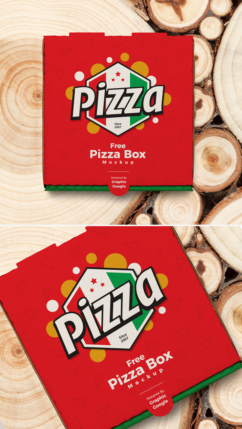 Download Free Pizza Packaging Box PSD MockupFree Mockup Zone